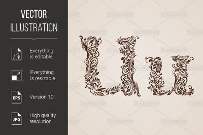 Decorated letter u