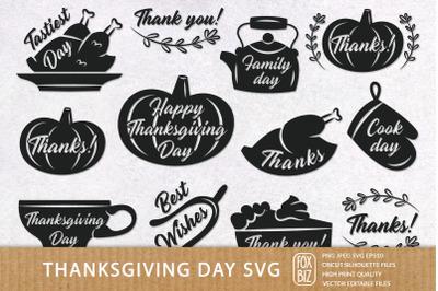 Thanksgiving Day Svg home decor. Cricut files, paper cut