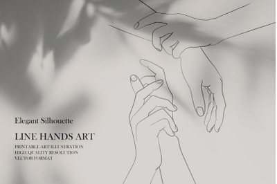 Line Hands Art