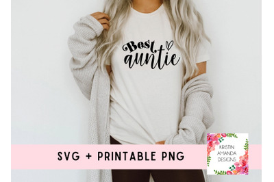 Best Auntie SVG Cut File and Sublimation PNG