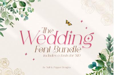 The Wedding Font Bundle (Wedding Fonts, Script Fonts, Beautiful Fonts)