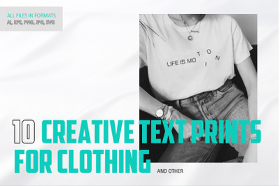 10 Creative print for clothing
