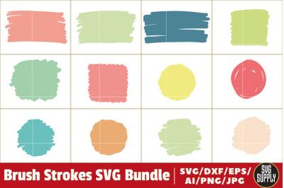 Brush Strokes SVG Bundle Cut File