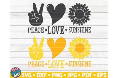 Peace love sunshine SVG | Sunflower quote SVG