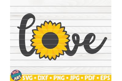 Cute Love sign SVG | Sunflower sign SVG