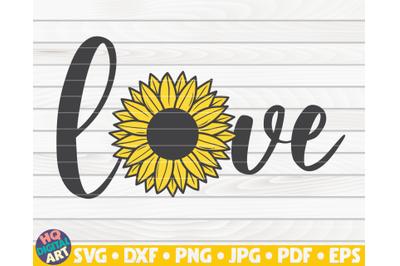 Horizontal Love sign SVG | Sunflower sign SVG