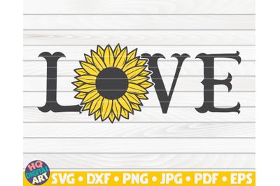 Fishtail Love sign SVG | Sunflower sign SVG