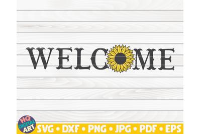 Horizontal welcome sign SVG | Sunflower sign SVG