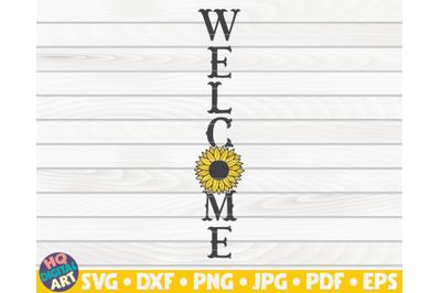Vertical welcome sign SVG | Sunflower sign SVG