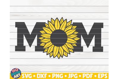 Varsity Mom SVG | Sunflower themed SVG