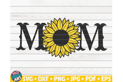 Western Mom SVG | Sunflower themed SVG