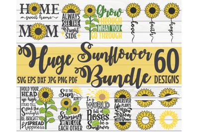 Huge Sunflower Bundle SVG | 60 designs