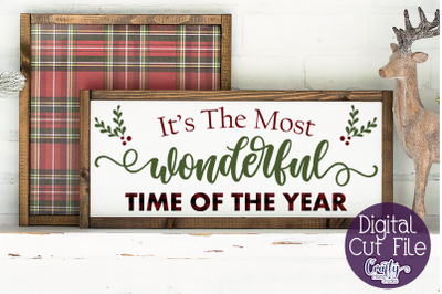 It's The Most Wonderful Time, Christmas Svg, Farmhouse Svg