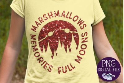 Marshmallows Memories Full Moons Png, Camping Png