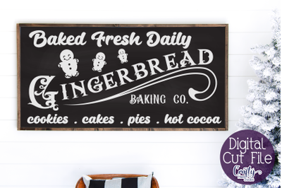 Gingerbread Baking Co Svg, Christmas Svg, Farmhouse Svg