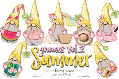 Summer Girls Gnomes Icons