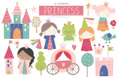 Princess clipart set
