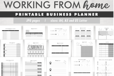 Working from home | Printable business planner.