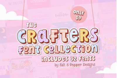 The Crafters Font Collection (Procreate Fonts, Canva Fonts, Cute Fonts