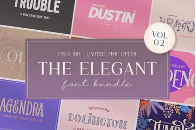 The Elegant Font Bundle (Sans Fonts, Serif Fonts, Font Bundles)