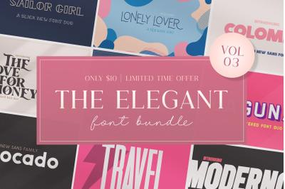 The Elegant Font Bundle (Sans Fonts, Smooth Fonts, Beautiful Fonts)