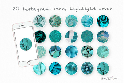 Instagram Green Themed Story Highlight covers