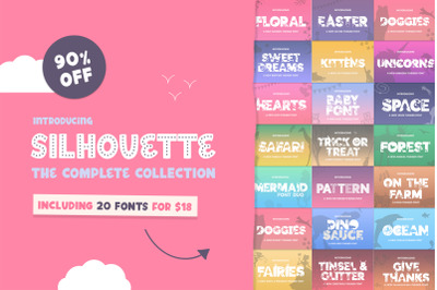 The Silhouette Font Bundle - Complete Collection (Craft Fonts)