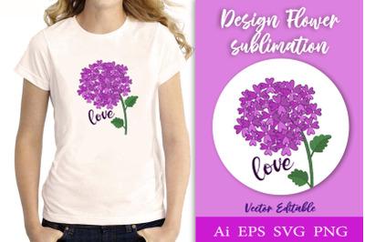 Floral sublimation design. SVG
