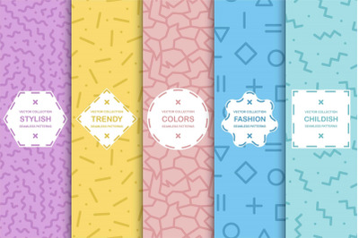 Bright color creative patterns