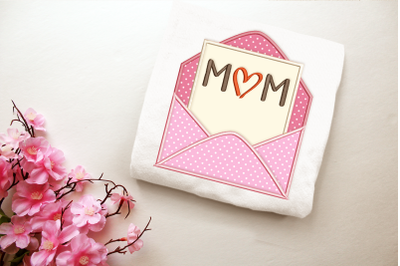 Mother's Day Envelope | Applique Embroidery