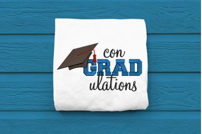Con-GRAD-ulations Graduation | Embroidery