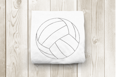 Linework Volleyball | Embroidery