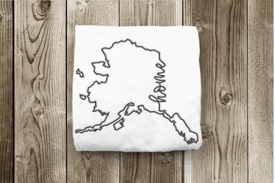 Alaska Home State Outline | Embroidery