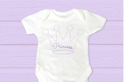 Linework Princess Crown | Embroidery