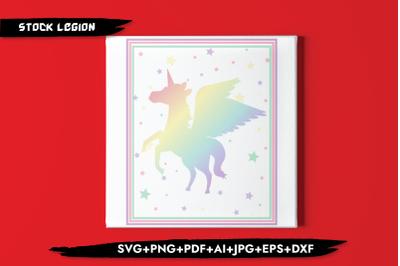 Rainbow Unicorn SVG
