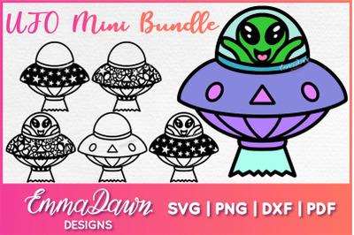 UFO MINI BUNDLE 6 Mandala Zentangle Designs SVG DXF PNG FCM