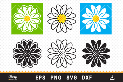 Daisy SVG, Flowers SVG, DXF, PNG, Chamomile Cur file