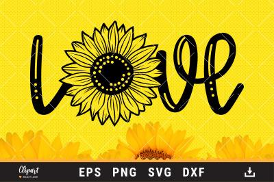 Sunflower SVG, Sunflower T-shirt SVG, DXF, PNG