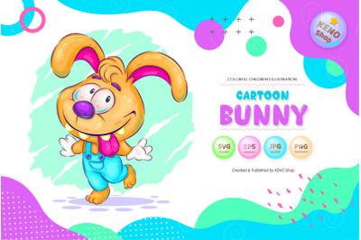 Cute cartoon bunny