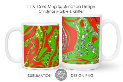 Christmas mug designs, mug sublimation template
