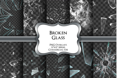 Broken Glass Overlays Transparent PNG