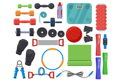 Home fitness equipment. Sport training accessories for home or gym exe