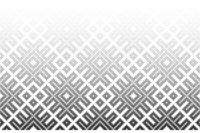 Seamless halftone vector background.Middle fade out. 96 figures in hei