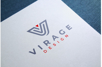 Logo Mock up - Colored Logo on White Textured Paper