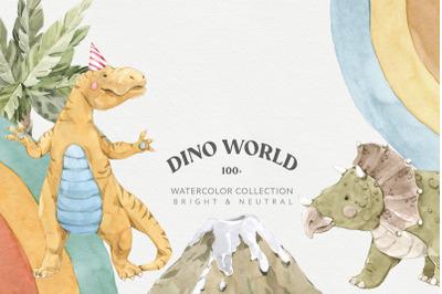 Dinosaur World Watercolor Set