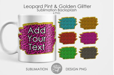Leopard glitter background, leopard print, sublimation backgrounds