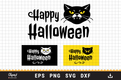 Cat Halloween SVG, Halloween SVG, DXF, PNG