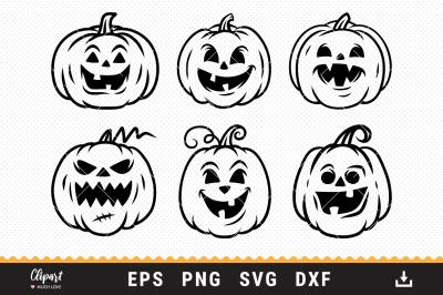 Halloween SVG, Jack O Lantern SVG, Pumpkin face SVG, DXF, PNG