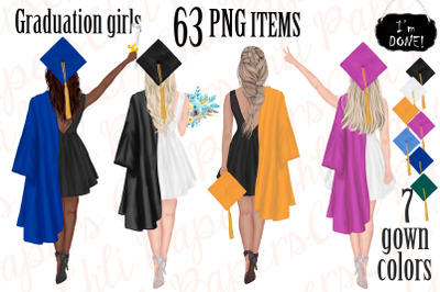 Graduation Girls,Graduation gowns,Graduation students Png