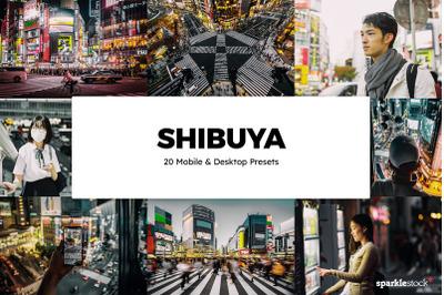 20 Shibuya Lightroom Presets & LUTs